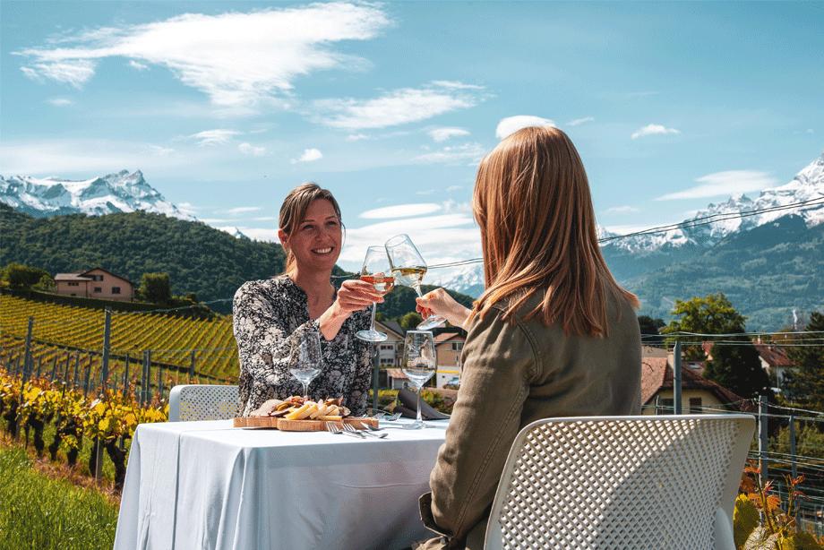 Experience Table dans les vignes