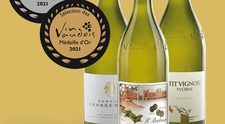 3 médailles à la Sélection des vins vaudois
